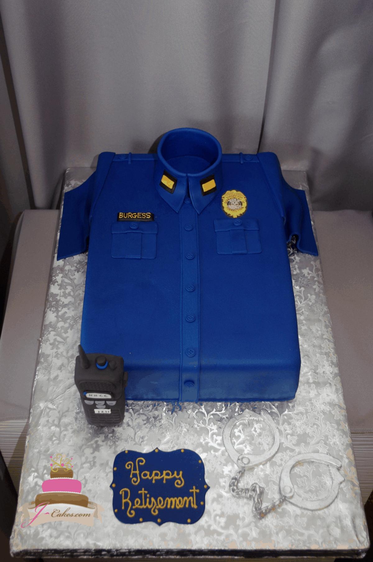 (849) Police Theme Cake
