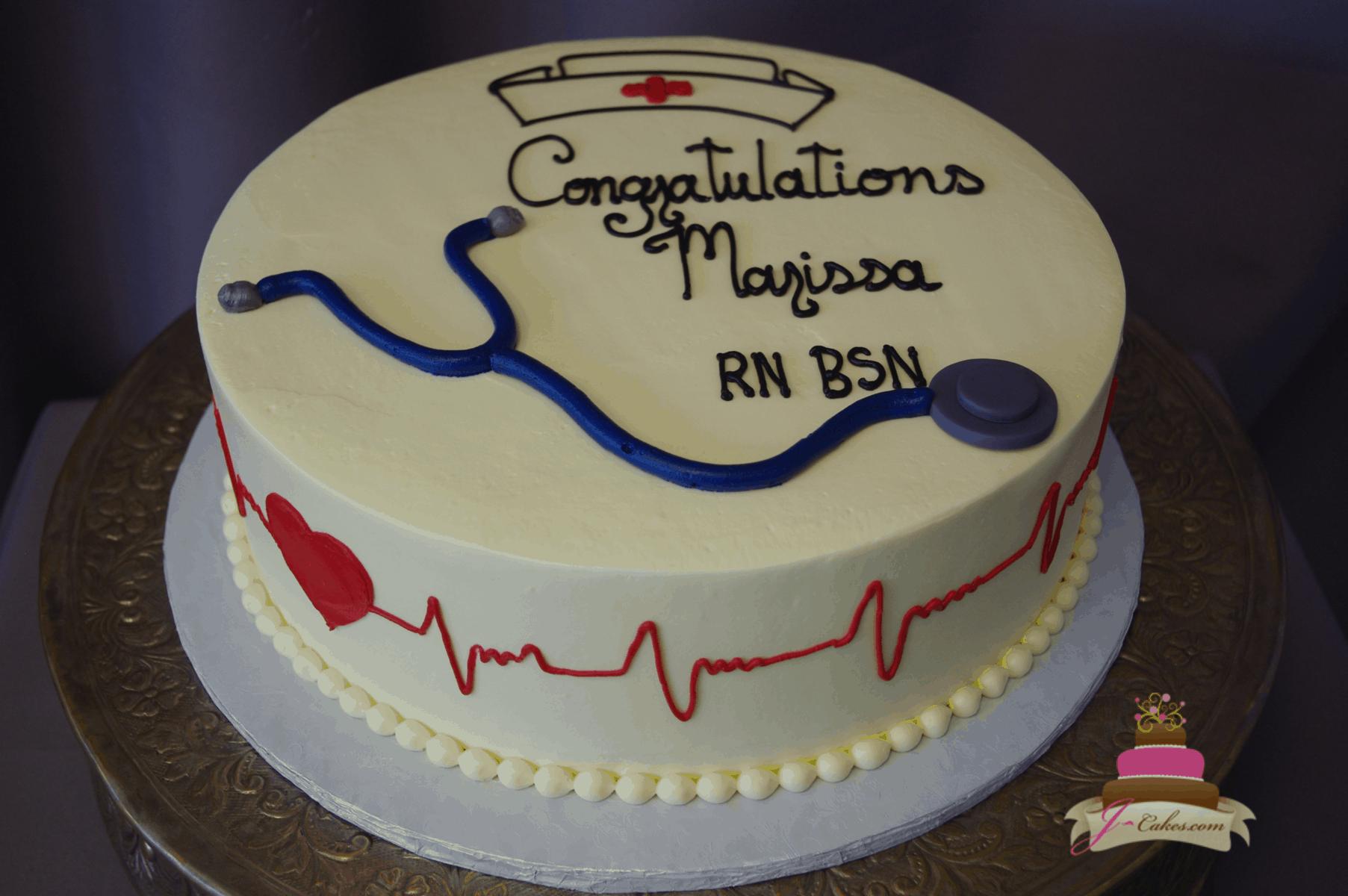 (852) Simple Nursing Graduation Cake