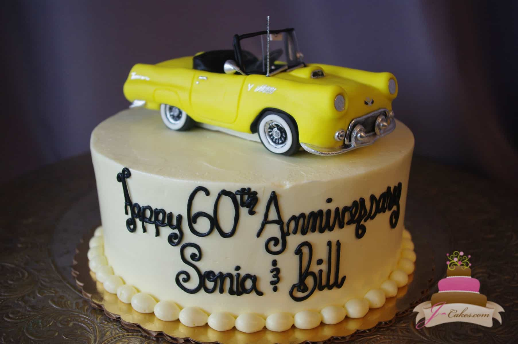 (843) 3D Car Anniversary Cake