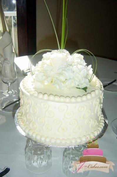 (804) Scroll Anniversary Cake