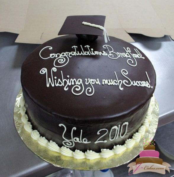 (811) Graduation Cake with Truffle Grad Cap