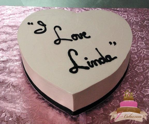 (812) Heart-Shaped Anniversary Cake