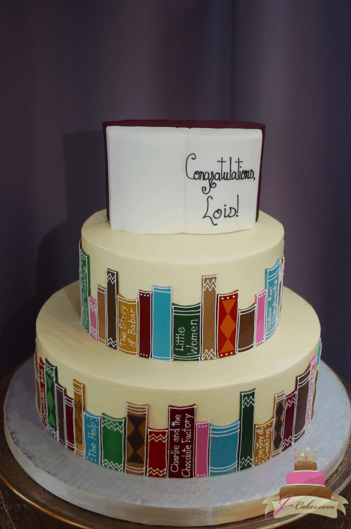 (850) Library Theme Cake