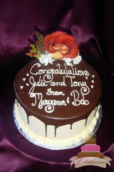 (805) Engagement Cake