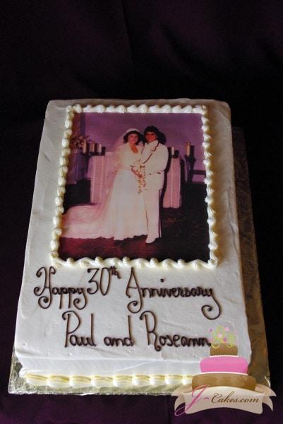 (807) Photo Anniversary Cake
