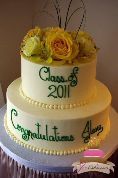 (817) Tiered Graduation Cake