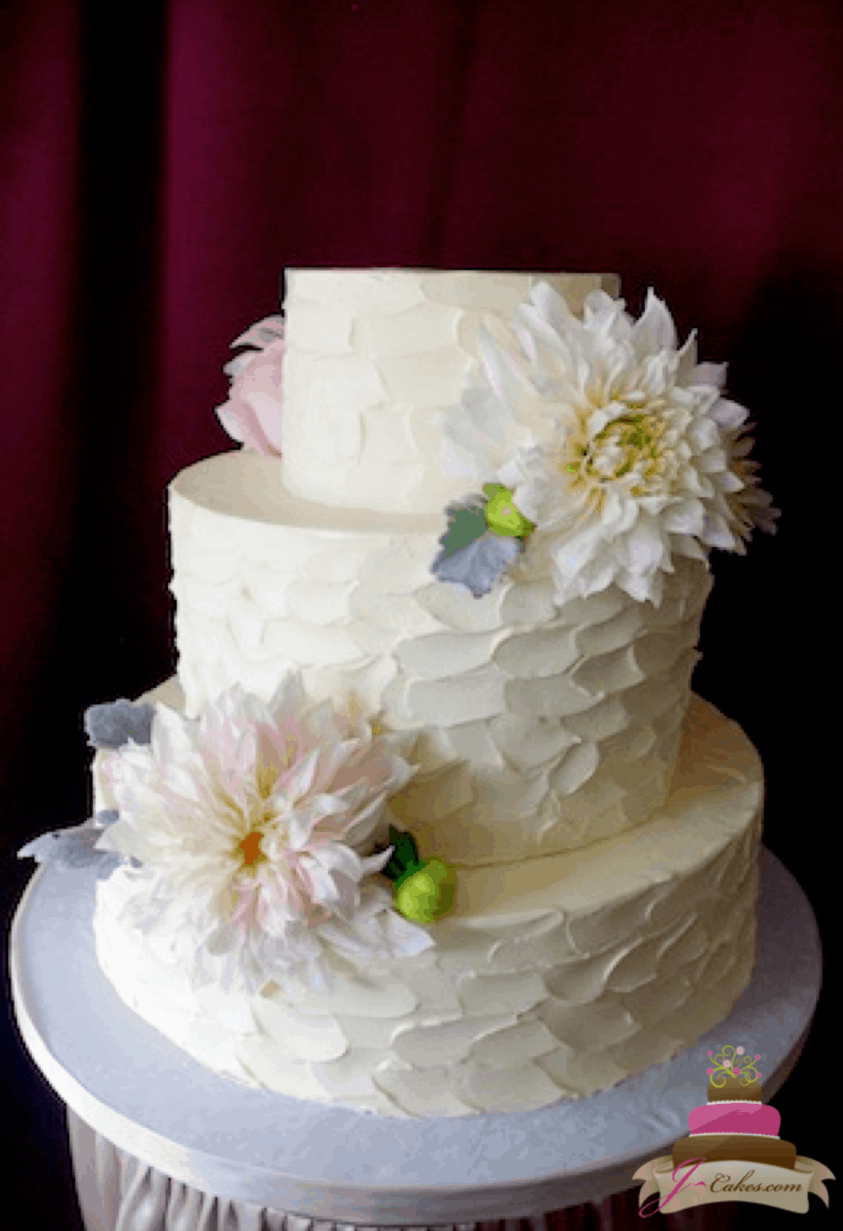 (1159) Short Texture Wedding Cake