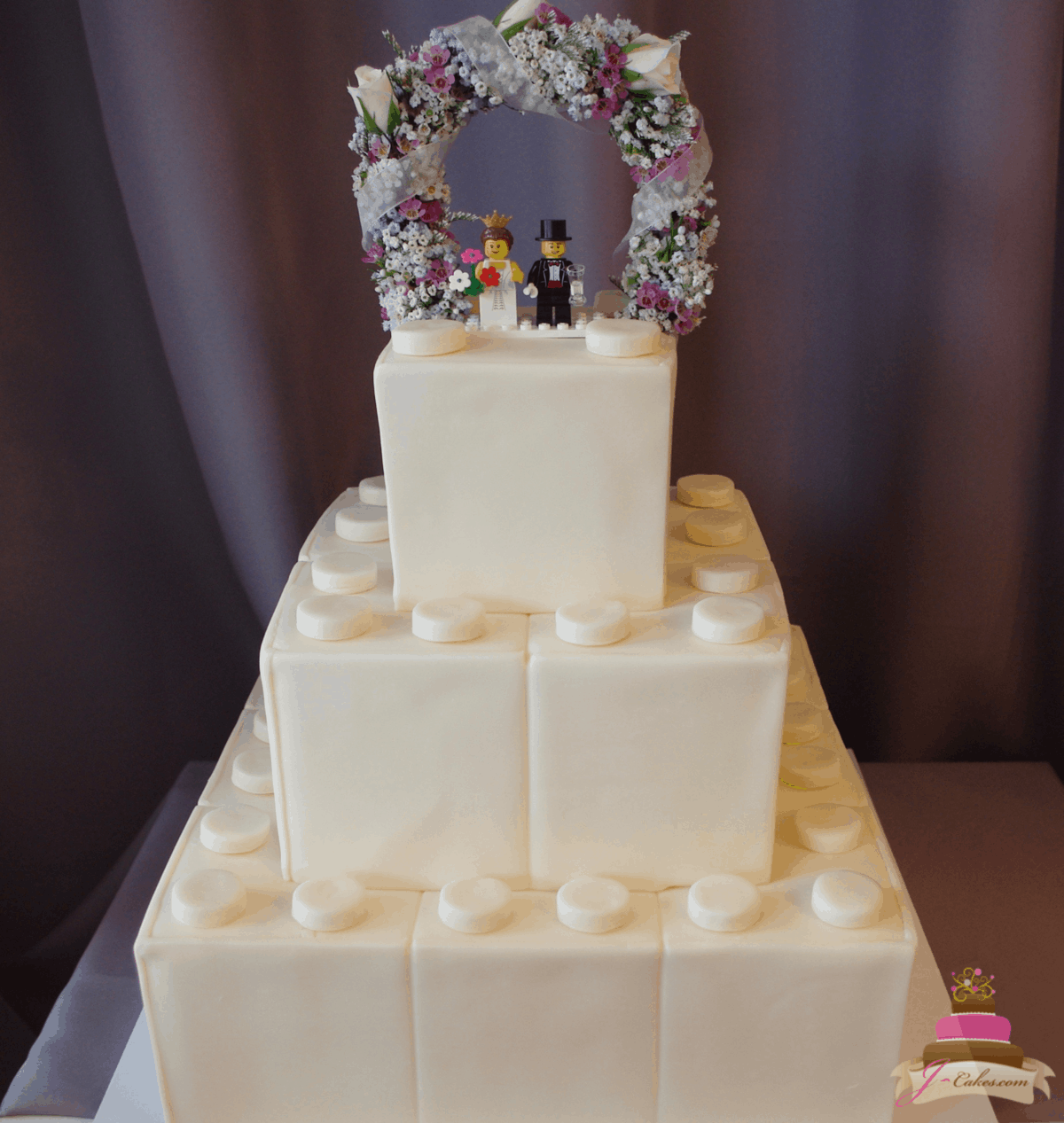 (1160) LEGO Theme Wedding Cake