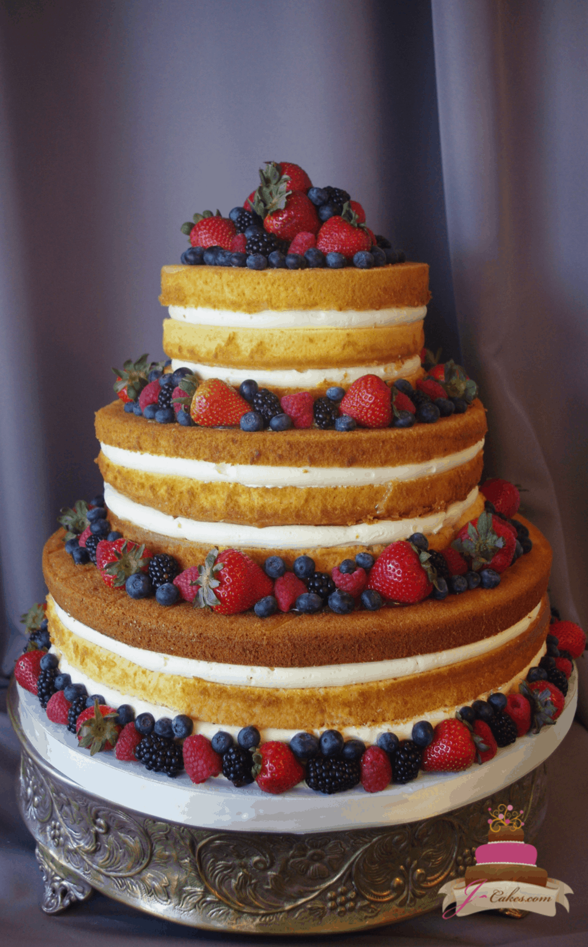 (1162) Naked Wedding Cake