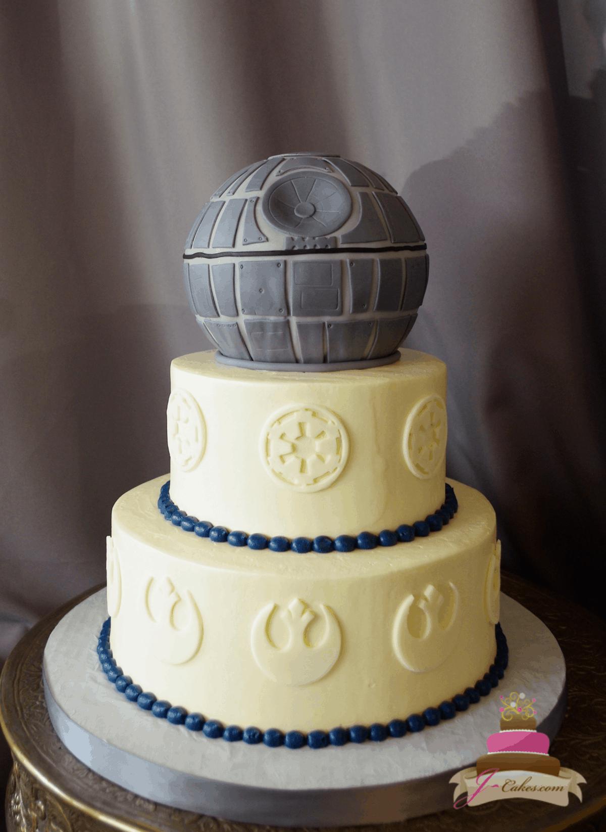 (1168) Star Wars Theme Wedding Cake