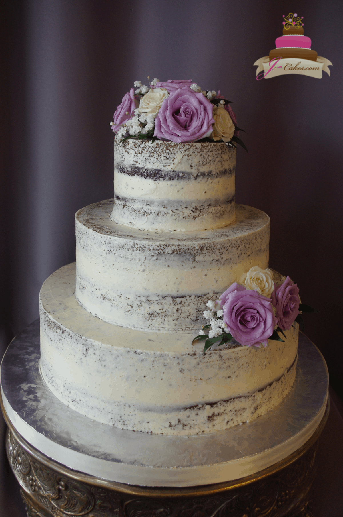 (1179) Semi-Naked Wedding Cake