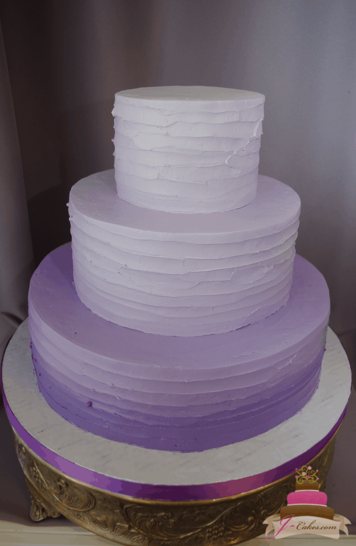 (1180) Purple Ombre Wedding Cake