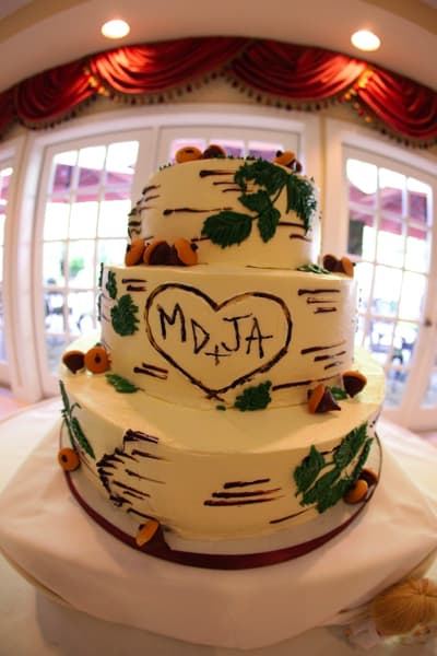 (1132) Birch Bark Wedding Cake