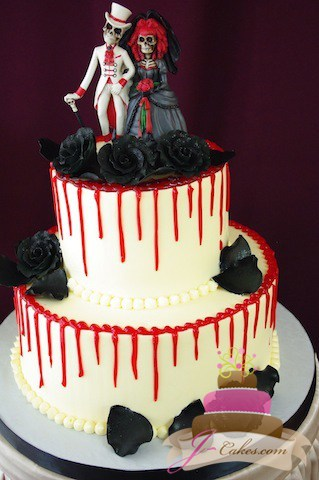 (1028) Day of the Dead Wedding Cake
