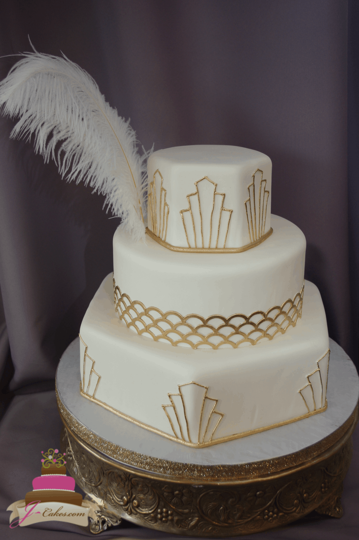 (1181) Art Deco Wedding Cake