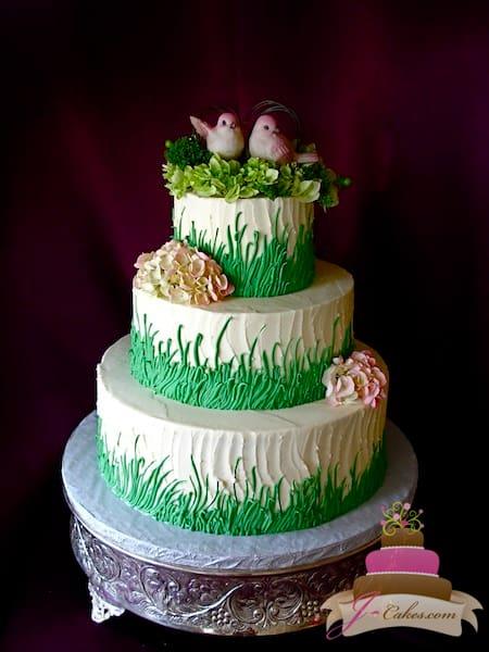(1134) Springtime Theme Wedding Cake