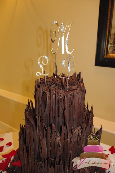 (1002) Chocolate Shard Wedding Cake