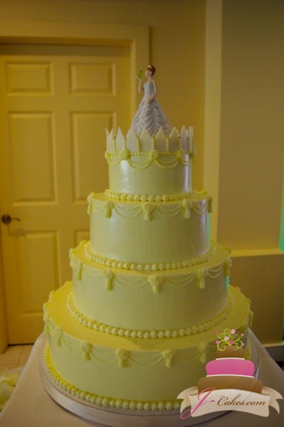 (1098) Piped Swag Wedding Cake