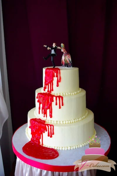 (1105) Bloody Wedding Cake