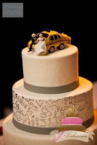 (1083) Taxi Cab Wedding Cake