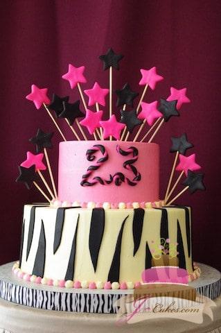 151 zebra print 23rd birthday cake jcakes 151 zebra print 23rd birthday cake altavistaventures Image collections